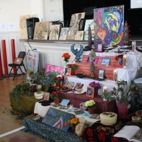 Awesome art altar-esque set-up